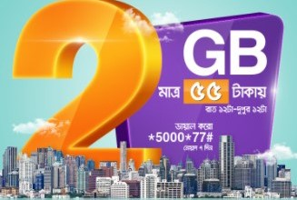 Banglalink Night Pack 2GB Internet 55 TK offer 2017