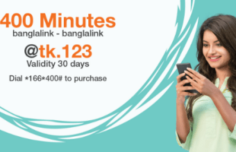 Banglalink 400 Minute 123TK Recharge Offer