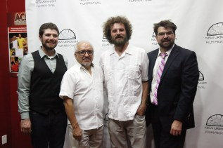 Travis Knight and Diego Cardoso with Festival founders Josh Paget and Joel Karahadian