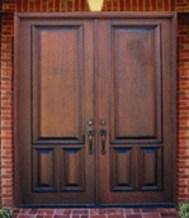 imposing wood doors