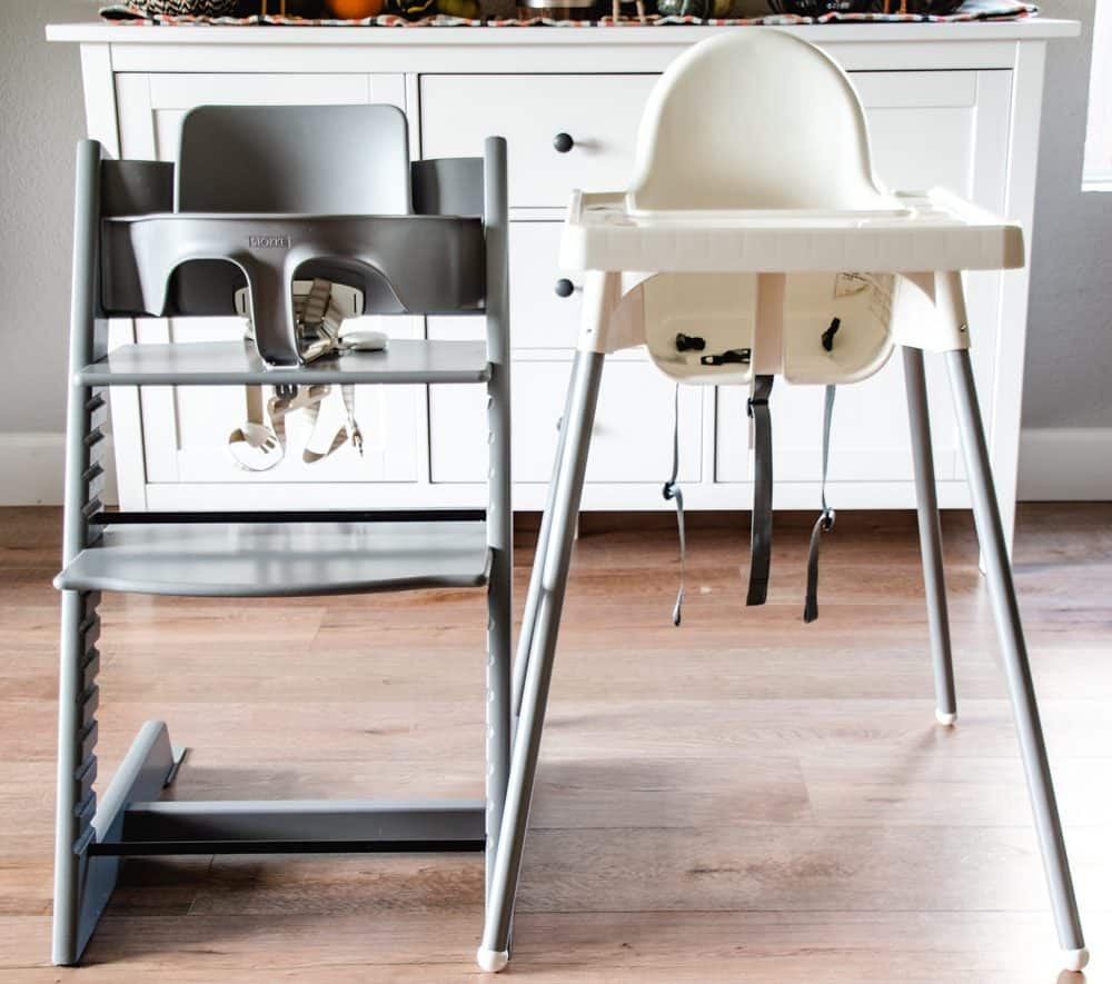 best high chair for baby outdoor gliding the stokke or ikea which is i