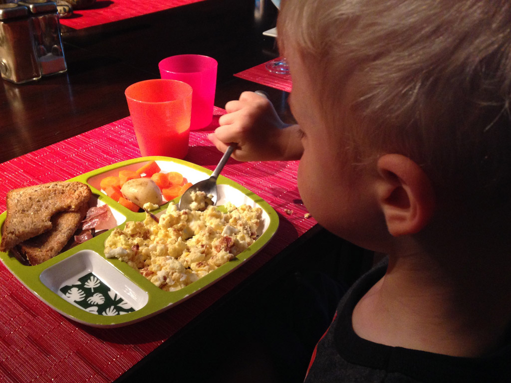 The great thing about eggs, they're a surefire win with the toddler age.