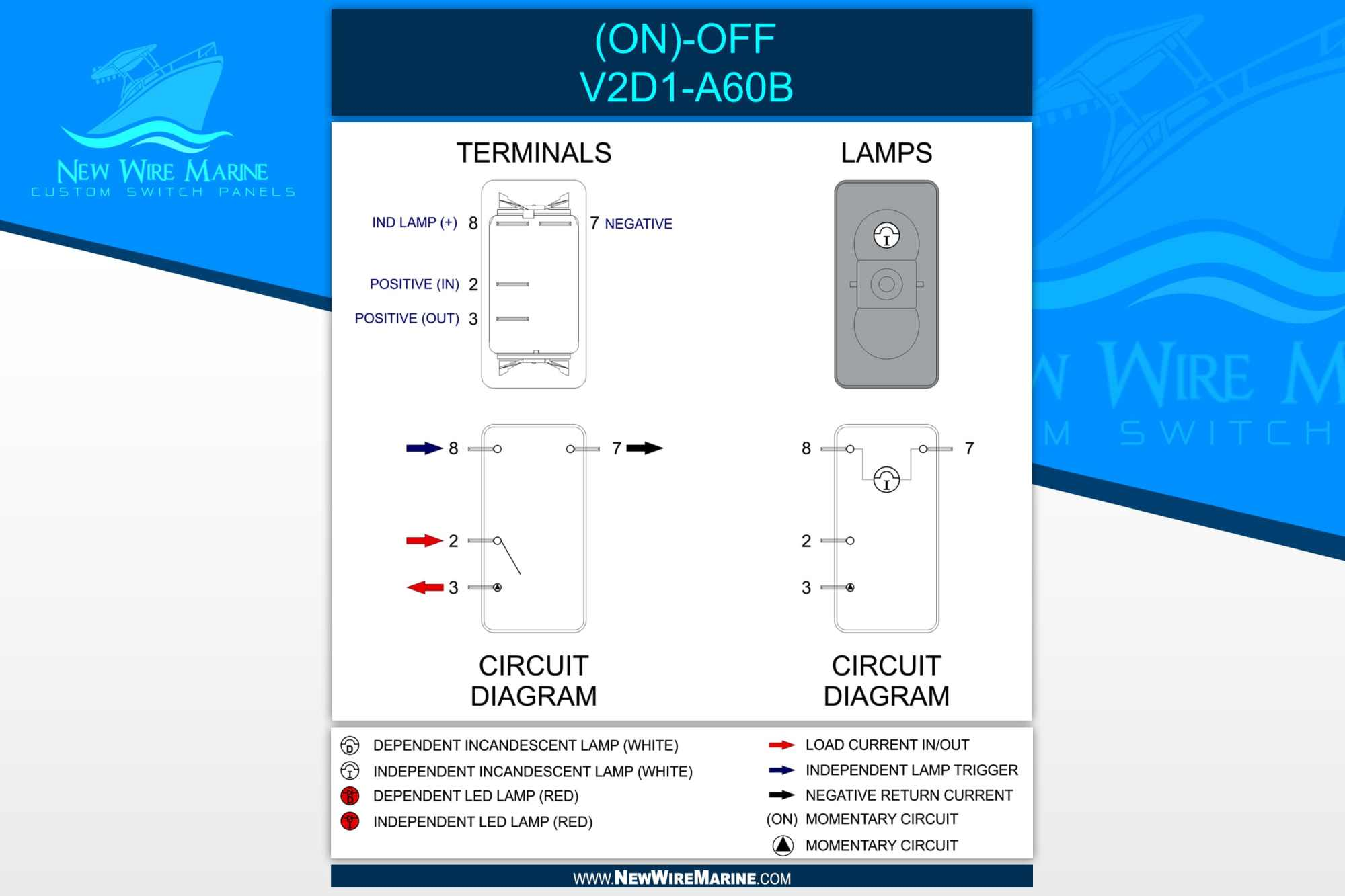 hight resolution of contura lower independent wiring diagram vjd2 uxxb momentary rocker switch wiring diagram marine contura illuminated switch