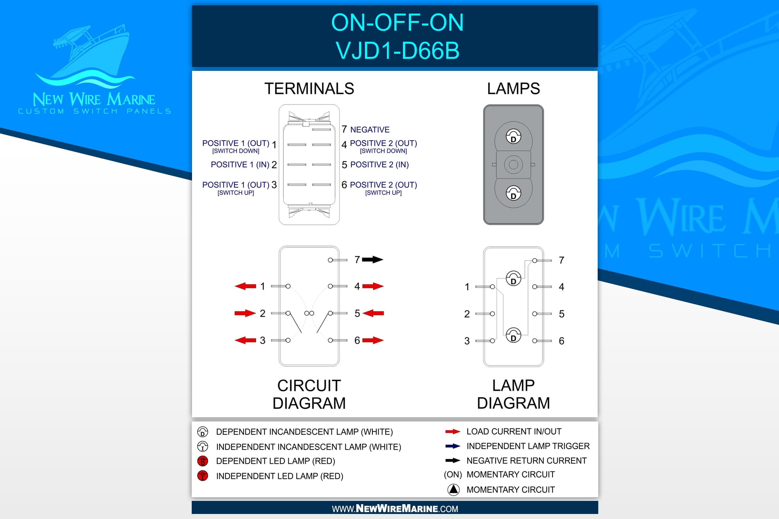 carling rocker switch wiring diagram ac split daikin inverter on off dpdt new wire marine
