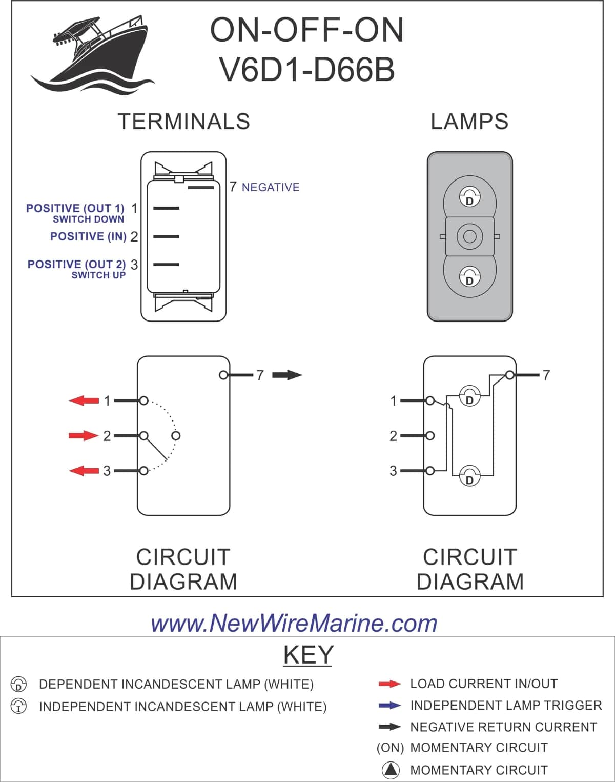 3 Prong Switch Wiring : prong, switch, wiring, Livewell, Fill/Aerate, Rocker, Switch, Carling, Contura, Illuminated, Accessory