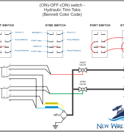 how to wire hydraulic trim tabs using a carling contura illuminated rocker switch free diagram [ 1025 x 794 Pixel ]