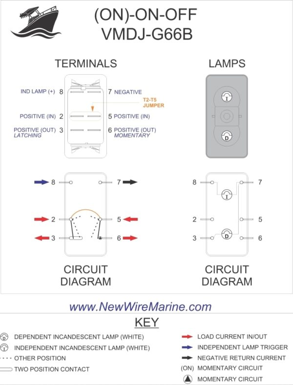 Ac 3 Prong Rocker Switch Wiring Diagram On On Off Rocker Switch Engine Switch Wiper Switch
