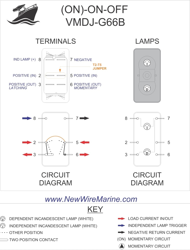 6 pin momentary switch wiring diagram for car stereo capacitor rocker diagrams new wire marine specs