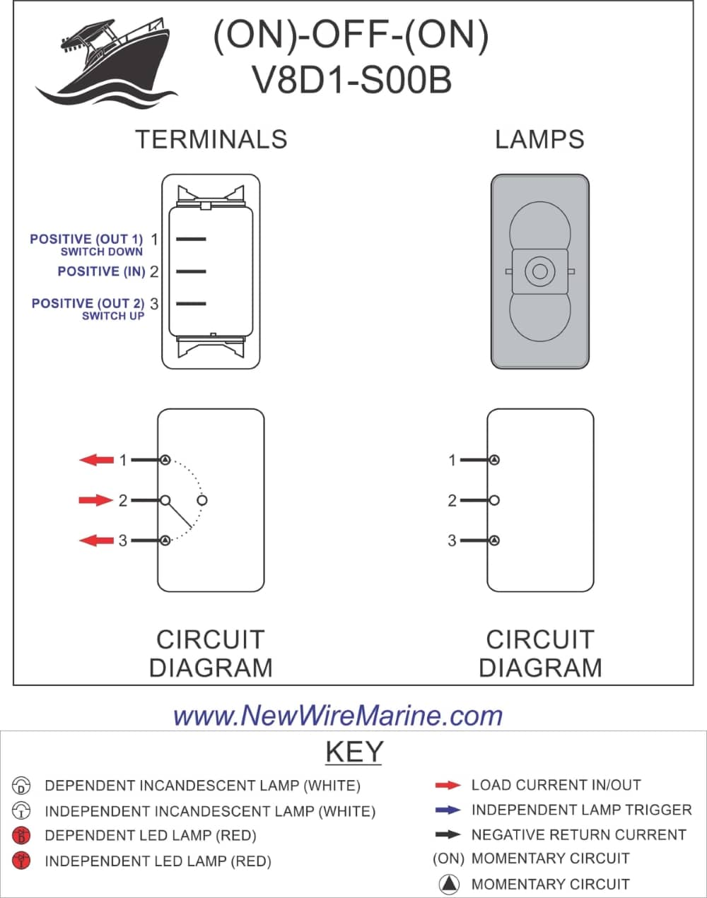 How To Wire A Toggle Switch With 6 Prongs : toggle, switch, prongs, Windlass, Rocker, Switch, Carling, Contura, Illuminated