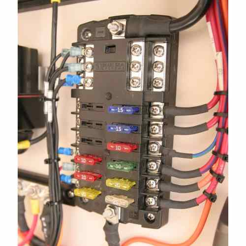 small resolution of 12 circuit marine fuse block with negative bus new wire marine blue sea fuse 12 circuit