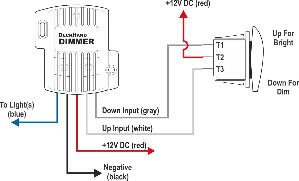 dimmer light switches diagram