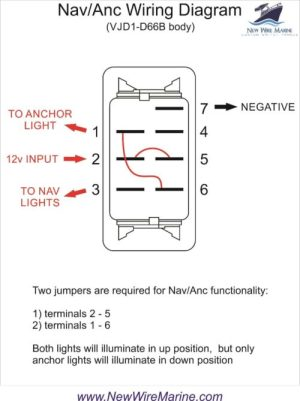 Nav Anc Rocker Switch | Carling Contura II | Illuminated