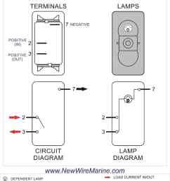 rocker switch wiring diagrams new wire marine 2 way light wiring 6 terminal switch wiring 2 way [ 1000 x 1294 Pixel ]