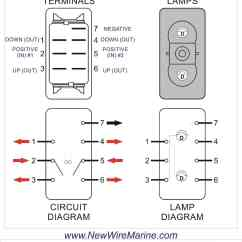 6 Pin Window Switch Wiring Diagram Motorcycle Electric Starter On-off-on | Marine Rocker Carling Vjd1 New Wire