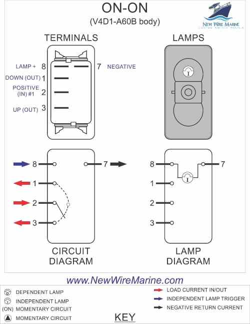 small resolution of on on rocker switch wiring diagram