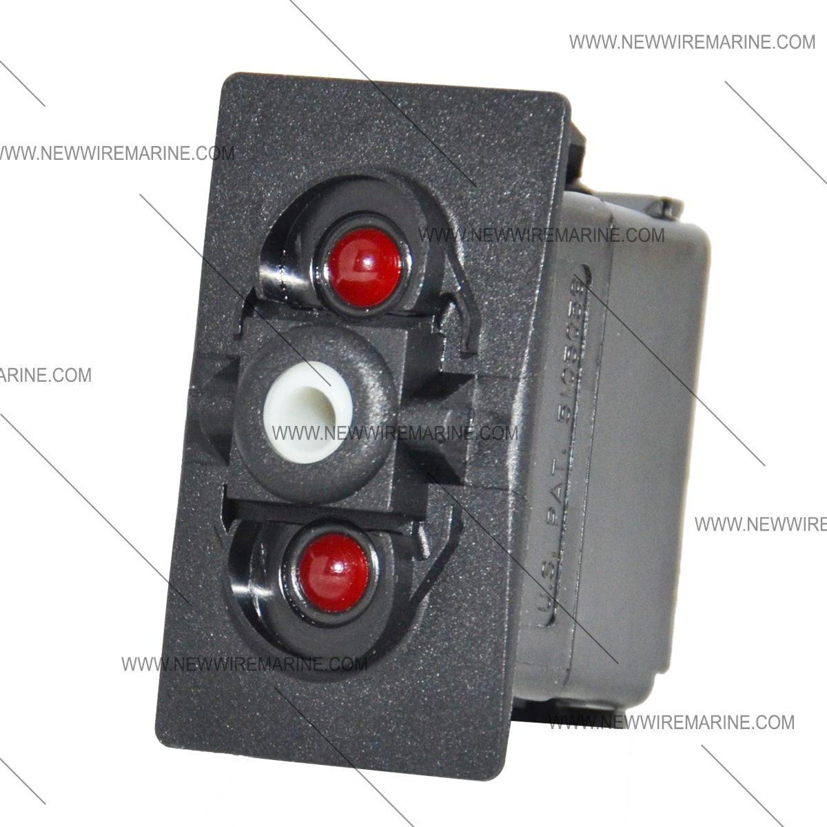 boat switch wiring diagram westinghouse 12 lead motor on-off-on backlit rocker | red led new wire marine