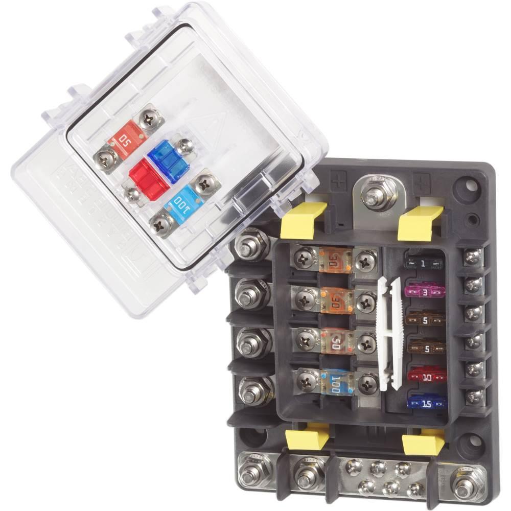 medium resolution of safetyhub blue sea 7748 multi circuit block new wire marine blue fuse box blue fuse box