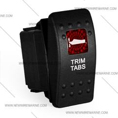 Illuminated Marine Rocker Switches Blank Fishbone Diagram Example Trim Tabs Switch | Carling Contura Ii Accessory