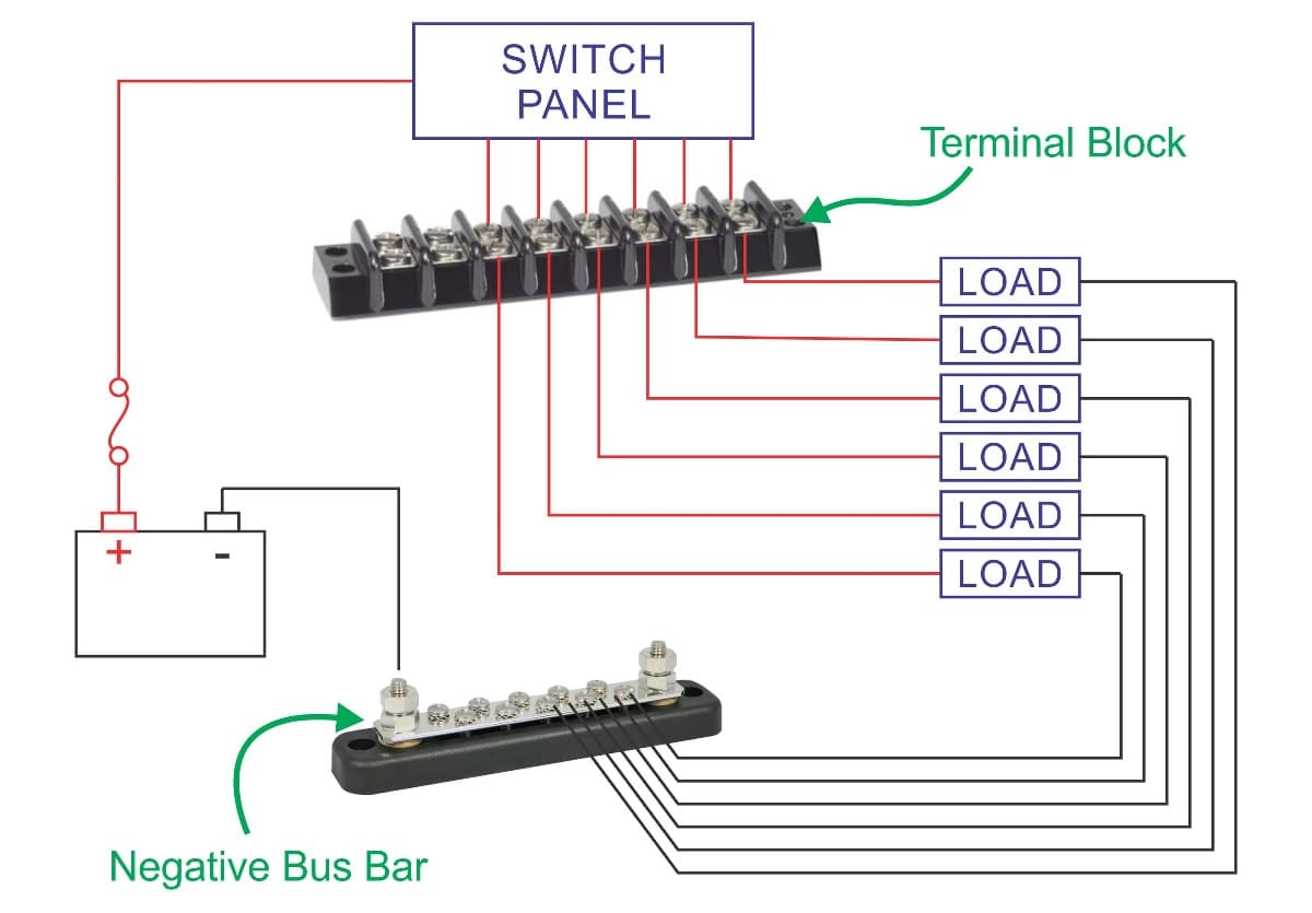 wiring diagram 3 way switch two lights alpine type r 12 marine terminal blocks | 4 to 20 circuits new wire