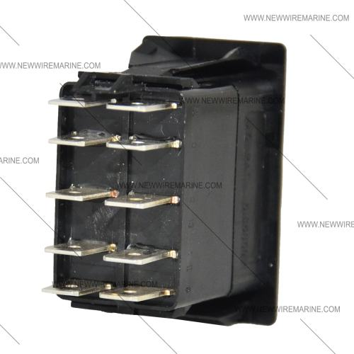 small resolution of on off on backlit rocker switch blue led new wire marine toggle switch dpdt onoffon new wire marine
