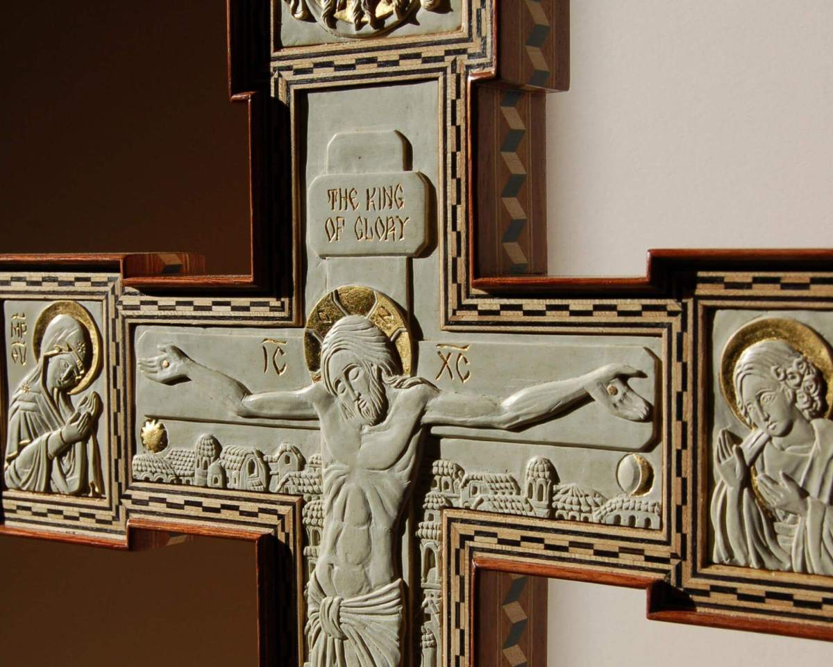 Carved and Inlaid Cross