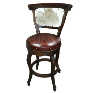swivel chair in spanish groupon heritage barstools page 2 round barstool with back hair on hide colonial antique brown