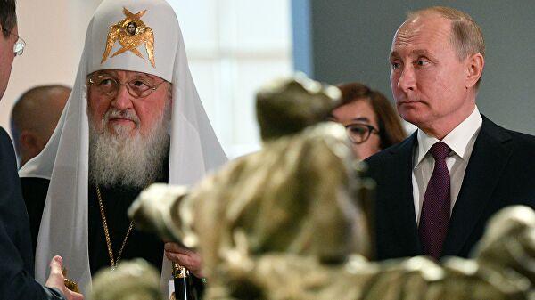 Путин поблагодарил патриарха за сотрудничество в период пандемии