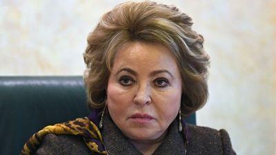 Матвиенко призвала сенаторов оставаться на самоизоляции