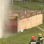 В Кировском районе из-за прорыва образовался трёхметровый фонтан горячей воды