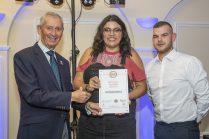 Winners in the Best Bar None Awards at Maesgwyn Hall, Wrexham last night.