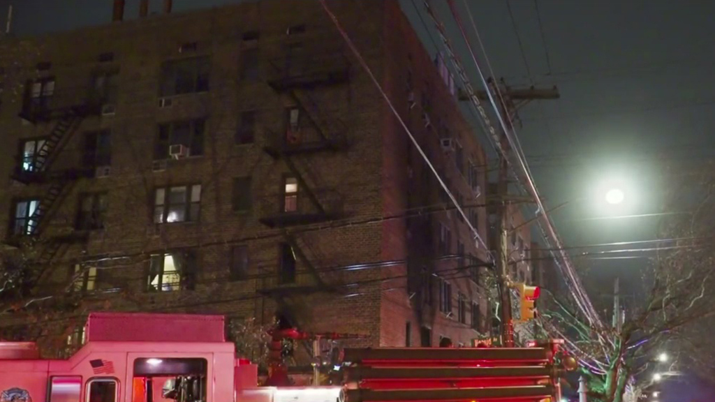 Several NYPD Officers Treated For Smoke Inhalation After Fire At Bronx Apartment Building