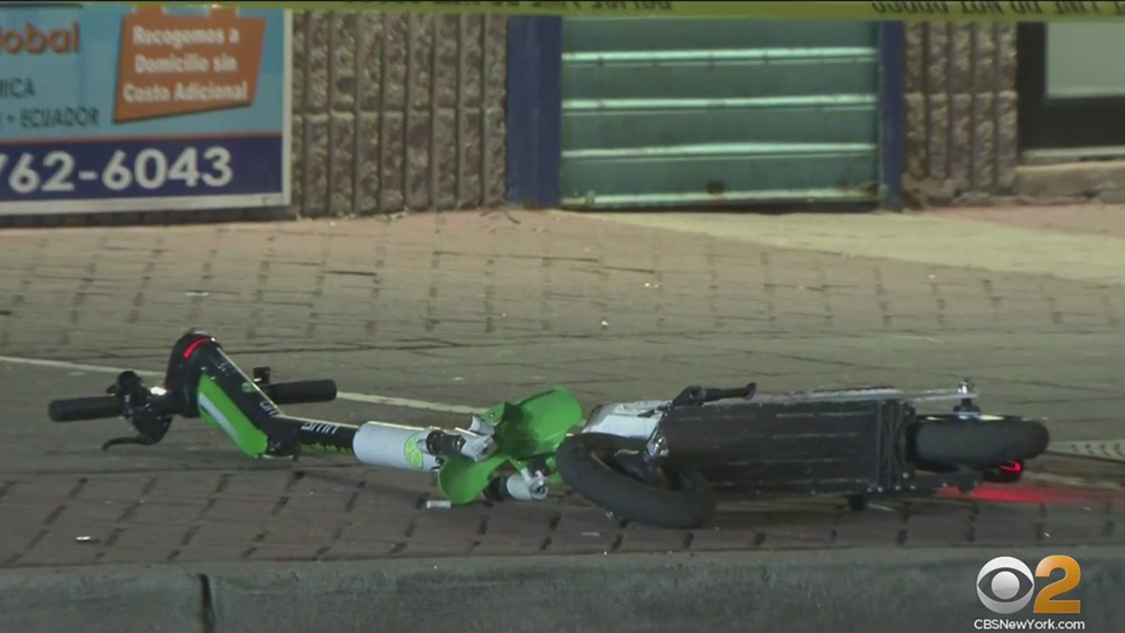 Scooter Rider Struck By Truck In Elizabeth, N.J.