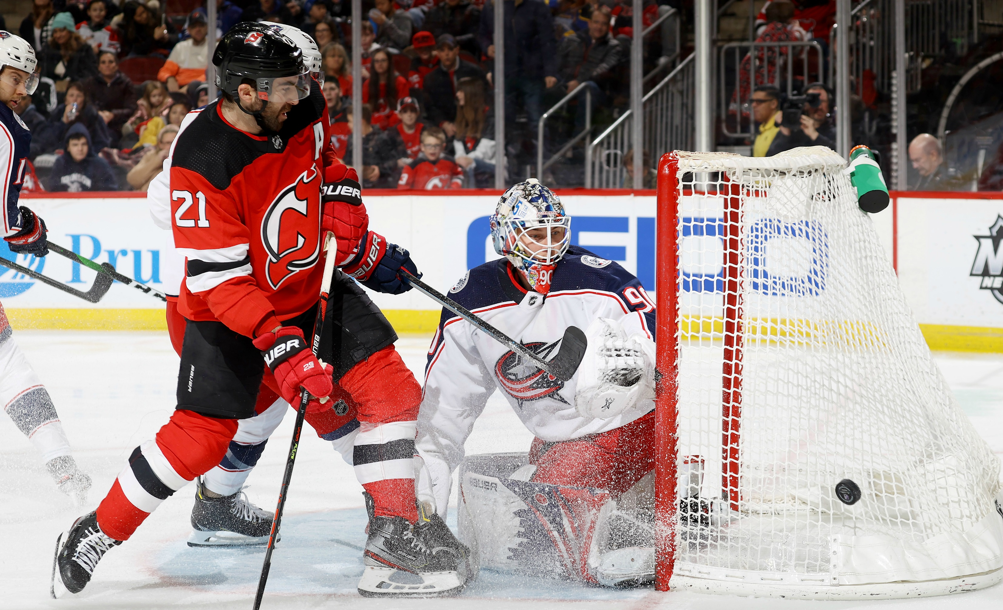 Blackwood Makes 52 Saves, Devils Top Jackets In Shootout