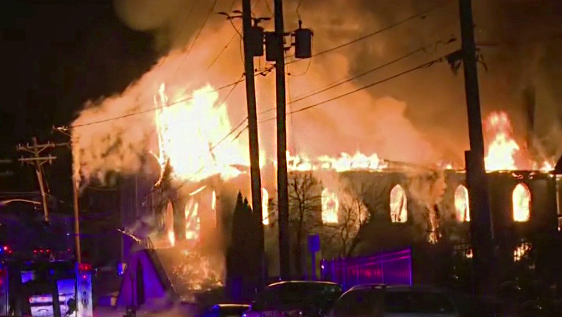 Baptist Church Gutted By Fire Hours Before Sunday Services In New Jersey