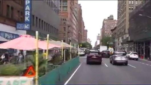 Dining Pods So Close To Traffic In New York City Cause Concerns About Safely Eating Outside