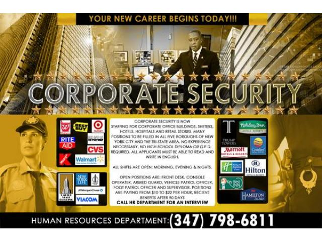 Armed Security Guard Jobs Nyc