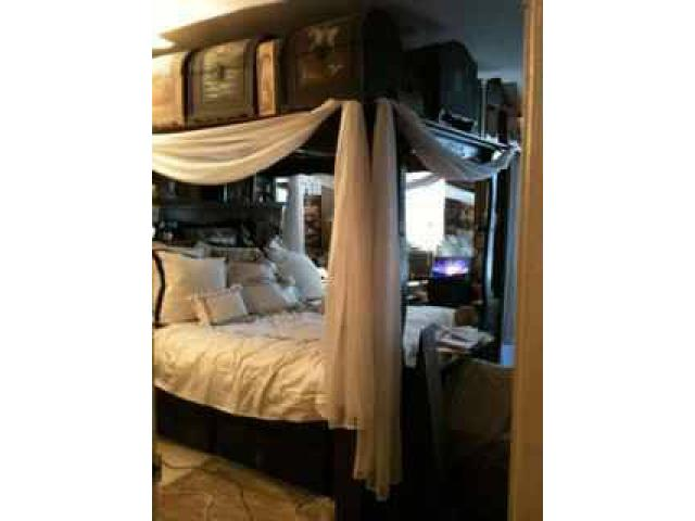 Vintage platform mirrored canopy bed for sale  200 mott Haven NY New York City  New York Ads