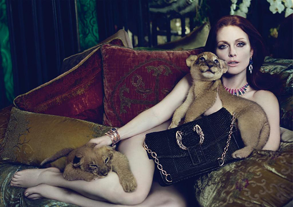 Julianne Moore Advertising Photo. his one was deemed unfit for display.