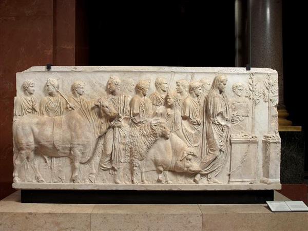 Relief Depicting the Suovetaurila Procession. Musée du Louvre, Paris.
