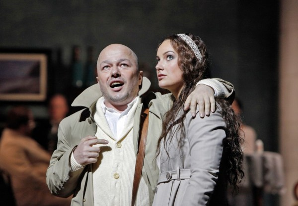 Orestes (Mikail Vekua) and Elektra (Olga Tolkmit). Photo Cory Weaver.