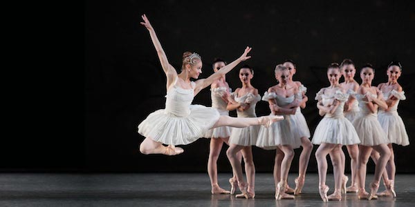 New York City Ballet in Jerome Robbins-Verdi The Four Seasons (Winter). Photo from nycballet.com.