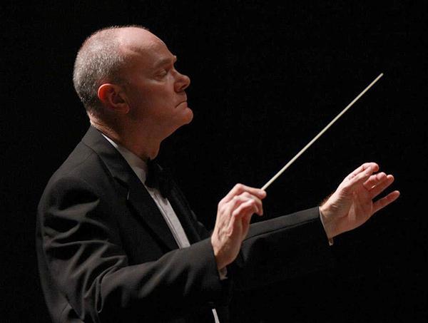 Tonu Kalam Conducting the UNC Symphony Orchestra