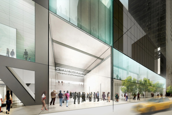 Rendering of proposed expansion of MoMA from 53rd Street. Image Diller, Scofidio + Renfro © 2014 .