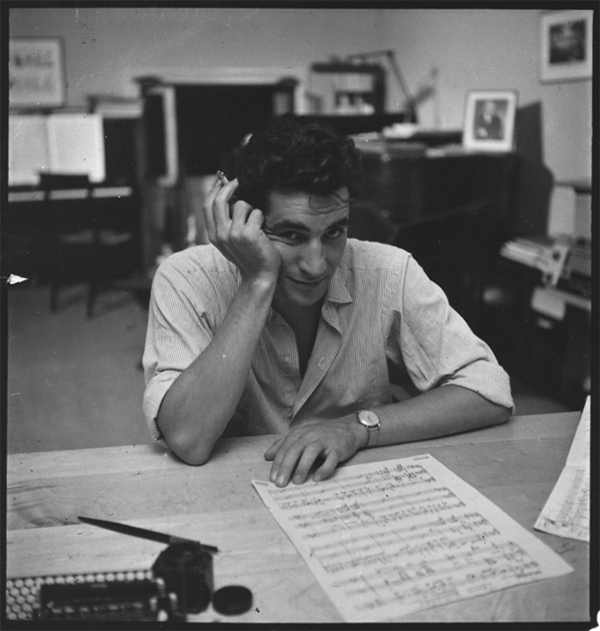 Leonard Bernstein in 1947. Photo Victor Kraft.