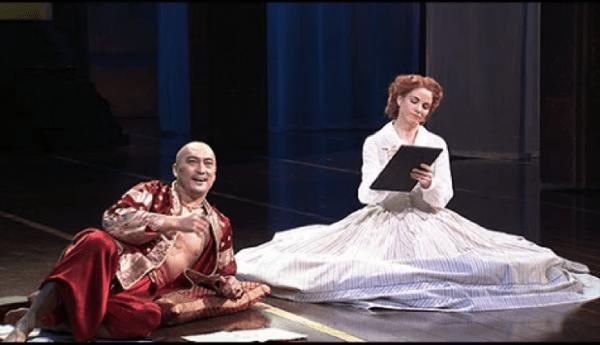 Ken Watanabe and Kelli O'Hara in The King and I
