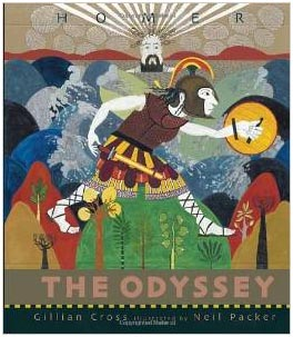 Cover of Gillian Cross's adaptation of The Odyssey, ideal for young readers