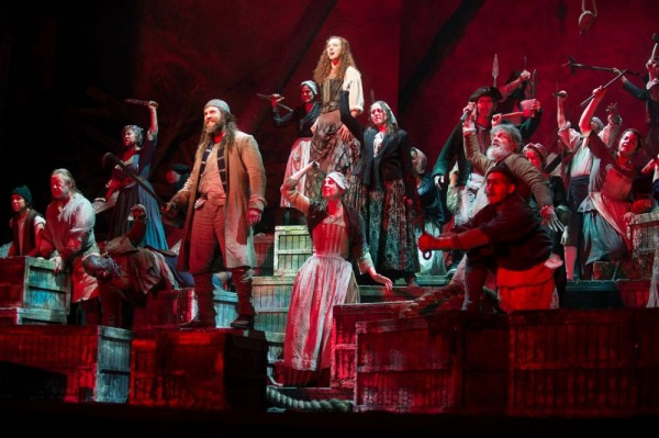 Sky Ingram and cast in Ethel Smyth's The Wreckers, at Bard SummerScape . Photo Cory Weaver.