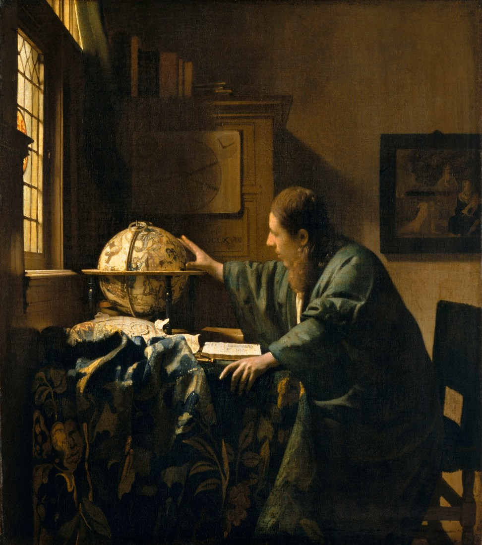 Johannes Vermeer (Delft 1632–1675), The Astronomer (1668), Oil on canvas, Paris, Musée du Louvre, Département des Peintures, Courtesy, Museum of Fine Arts, Boston.