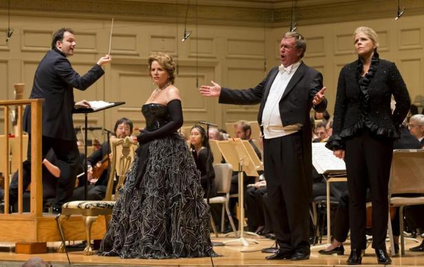 R. Strauss, Der Rosenkavalier: Andris Nelsons, Renée Fleming, Franz Hawlata, Susan Graham. Photo Winslow Townson.