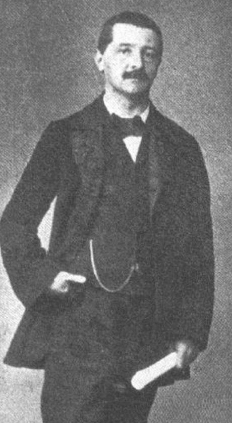 Anton Bruckner. Photo Joseph Löwy, Vienna, 1854.